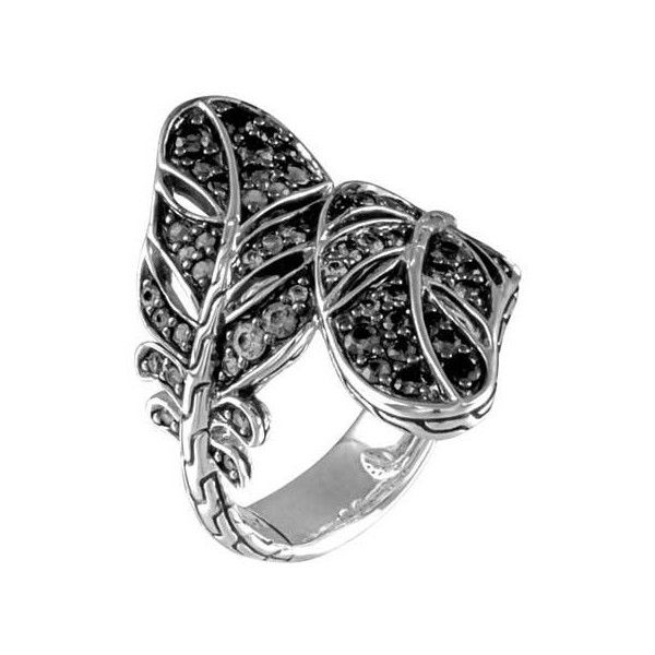 John Hardy Classic Chain Overlap Ring With Black Sapphire bX4P9rypT