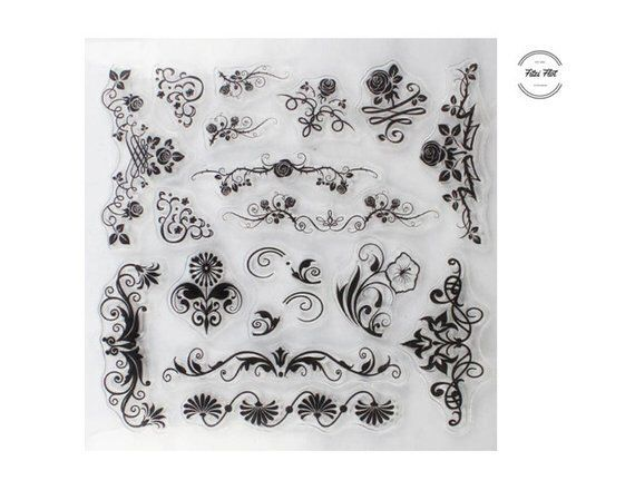 Stempel Set Blumen Transparent Stempel Clear Stamps Clear