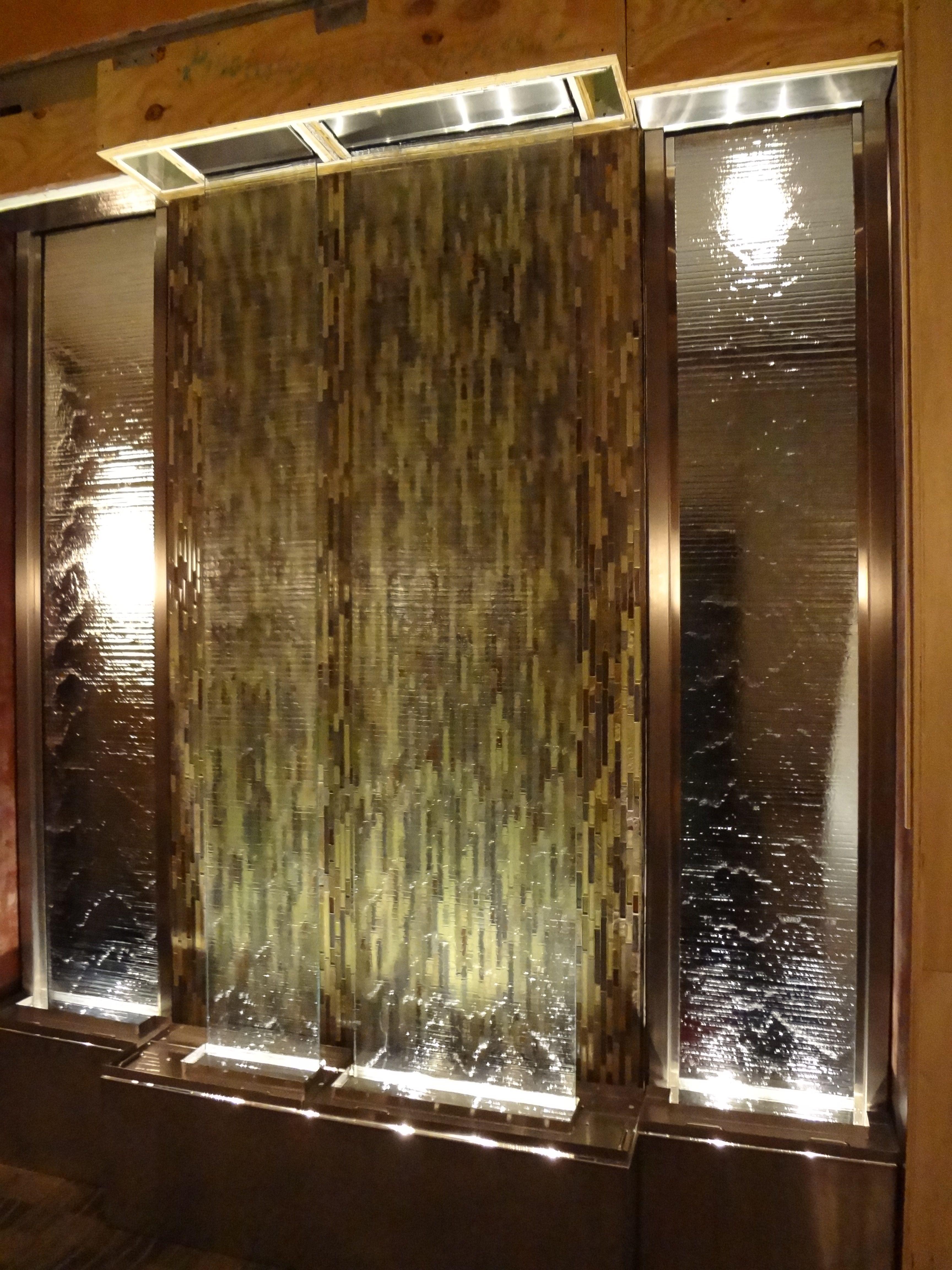 Custom Indoor Waterfall Panel By Bluworld Www Bluworldusa Com