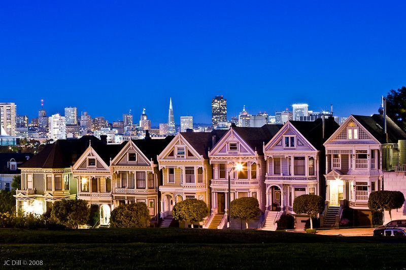 San Francisco Old victorian homes, Victorian homes