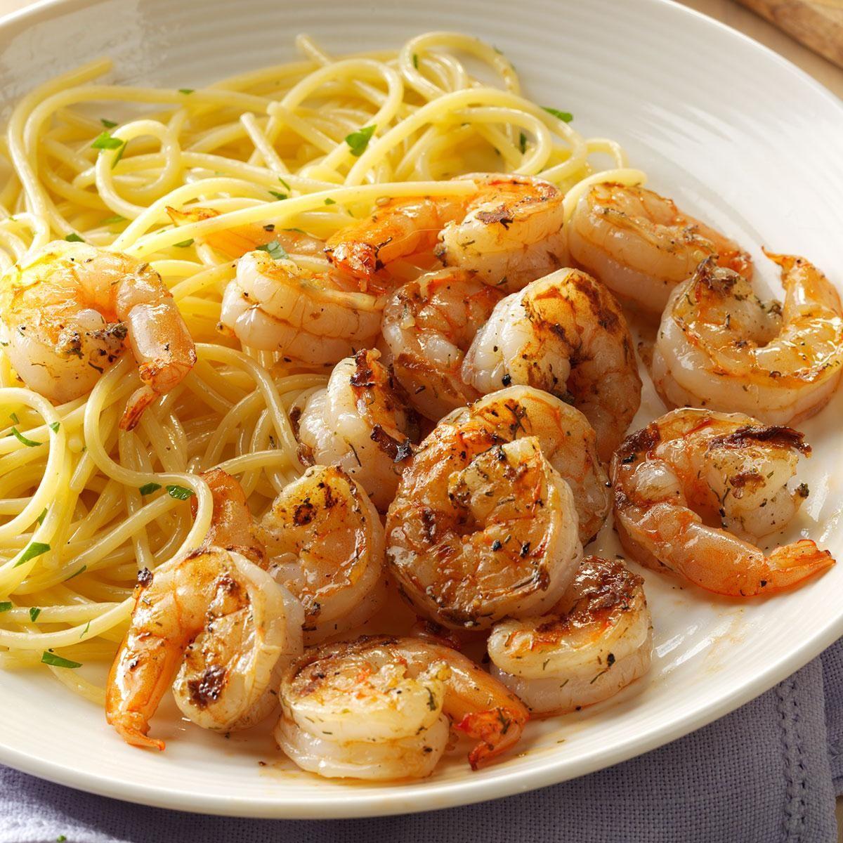 Grilled lemon dill shrimp recipe pensacola florida for Fish dinner recipes