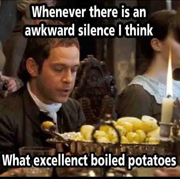 Image result for awkward silence meme bronte