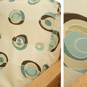 Miami Deco Futon Cover Features Waves And Swirls In Funky Color Scheme Sofasleeper