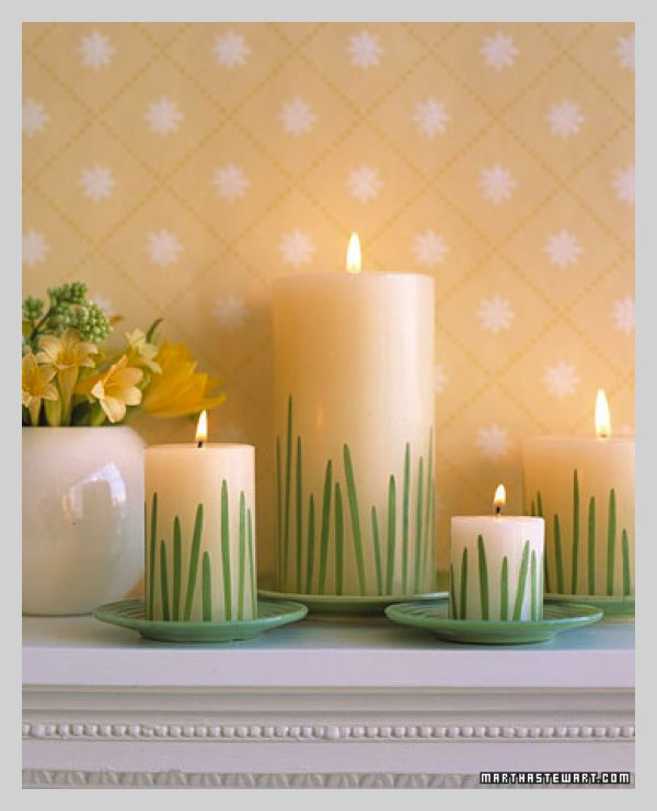 25 Diy Ideas How To Decorate A Candle Embellish With Blades Of