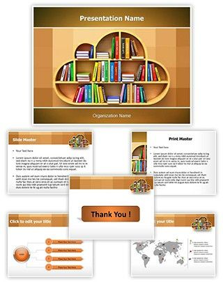 cloud library powerpoint template is one of the best powerpoint, Presentation templates