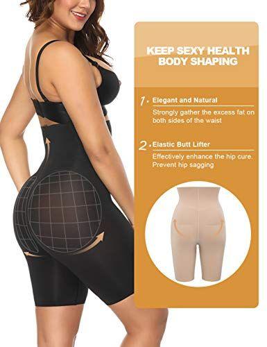 90b13af3b Lover-Beauty Women High Waist Body Shaper Butt Lifter Firm Plus Size  Shapewear