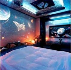 22 Space Themed Room Design Ideas for A New Atmosphere in Your Home ...