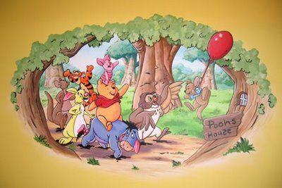 Murals faux finishing tips advice and ideas winnie - Habitacion winnie the pooh ...