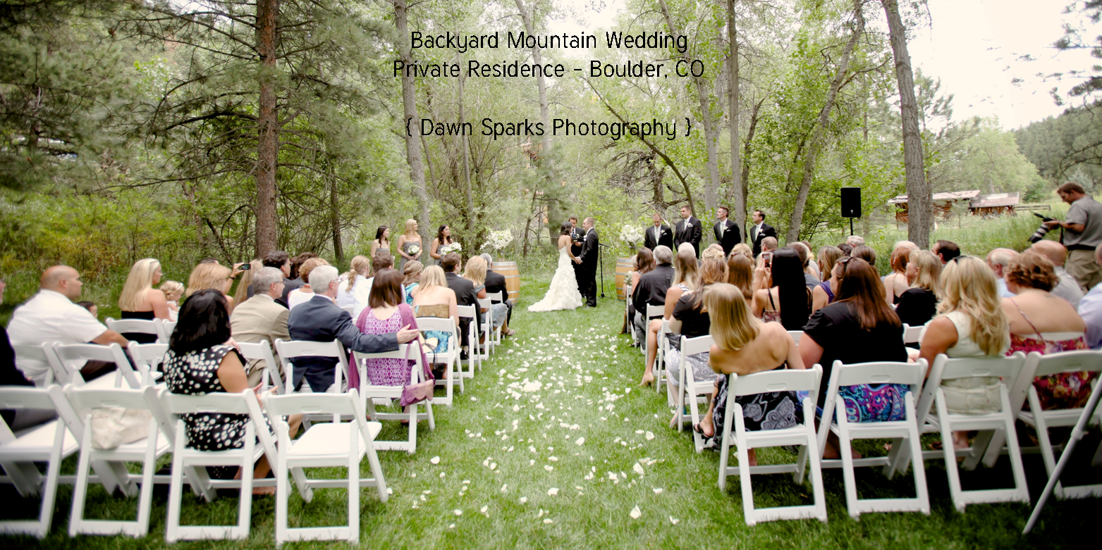 backyard mountain wedding in boulder co colorado wedding planner