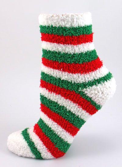 Christmas Fuzzy Socks.Fuzzy Christmas Slipper Socks Socks Fluffy Socks Crazy