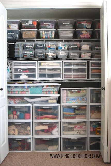 Ultimate organized closet, everything has a place!