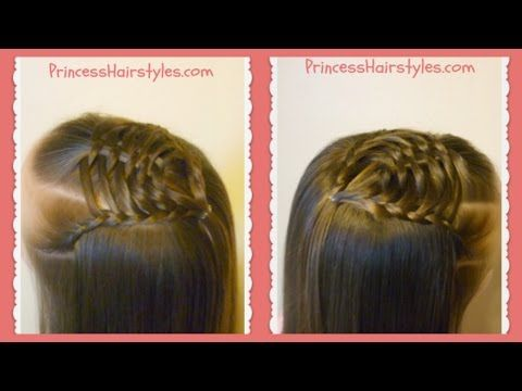 Woven Pyramid Half Up Hairstyle Tutorial Princess Hairstyles Half Up Hair Hair Tutorial Up Hairstyles