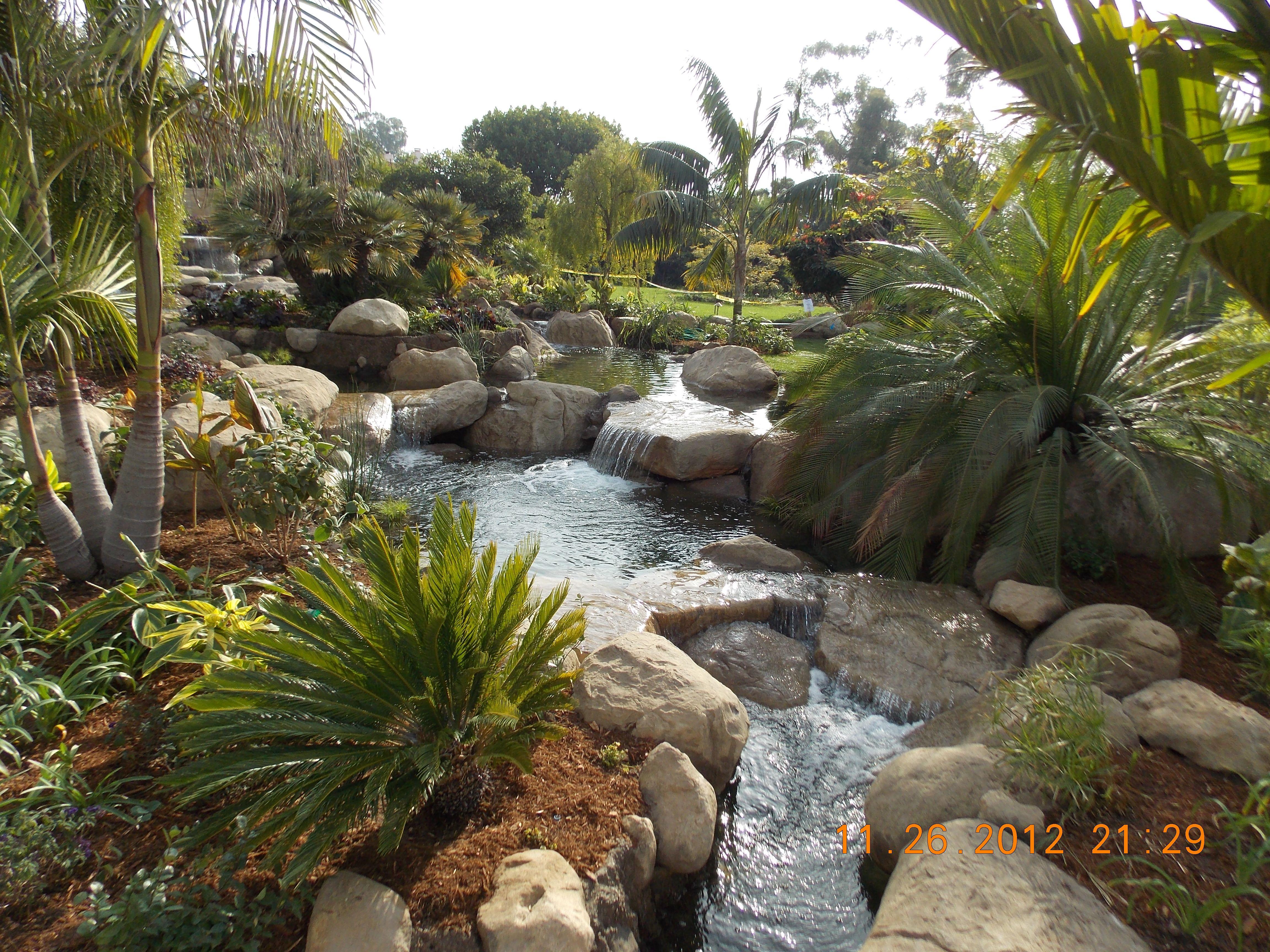 Tropical Garden Waterfalls