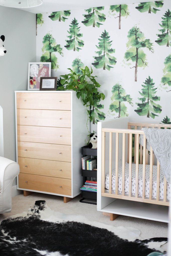 Modern Yet Kid Friendly Toddler Boy S Bedroom With Removable Wallpaper