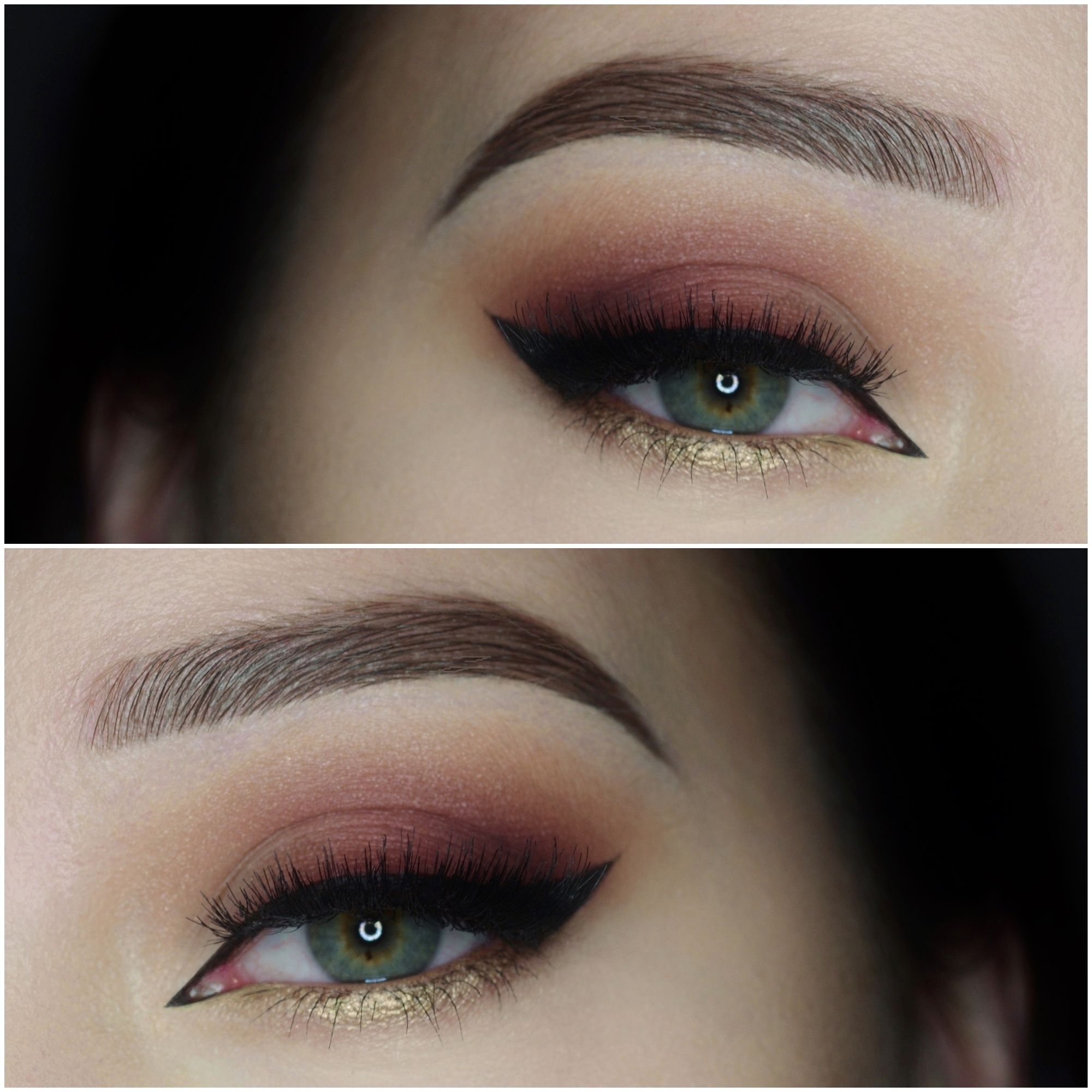 Check out our favorite burgundy and gold inspired makeup look. Embrace your cosmetic addition at MakeupGeek.com!