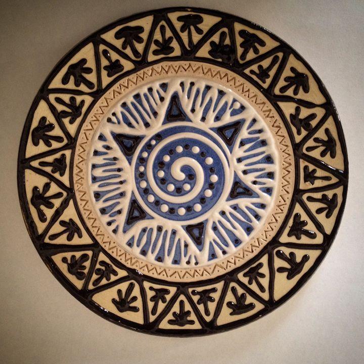 Slip trailing decorative plate - Hardy Ceramics | Ceramics . & Slip trailing decorative plate - Hardy Ceramics | Ceramics ...