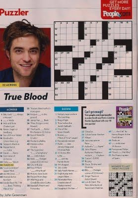 finish an entire people magazine crossword puzzle without cheating