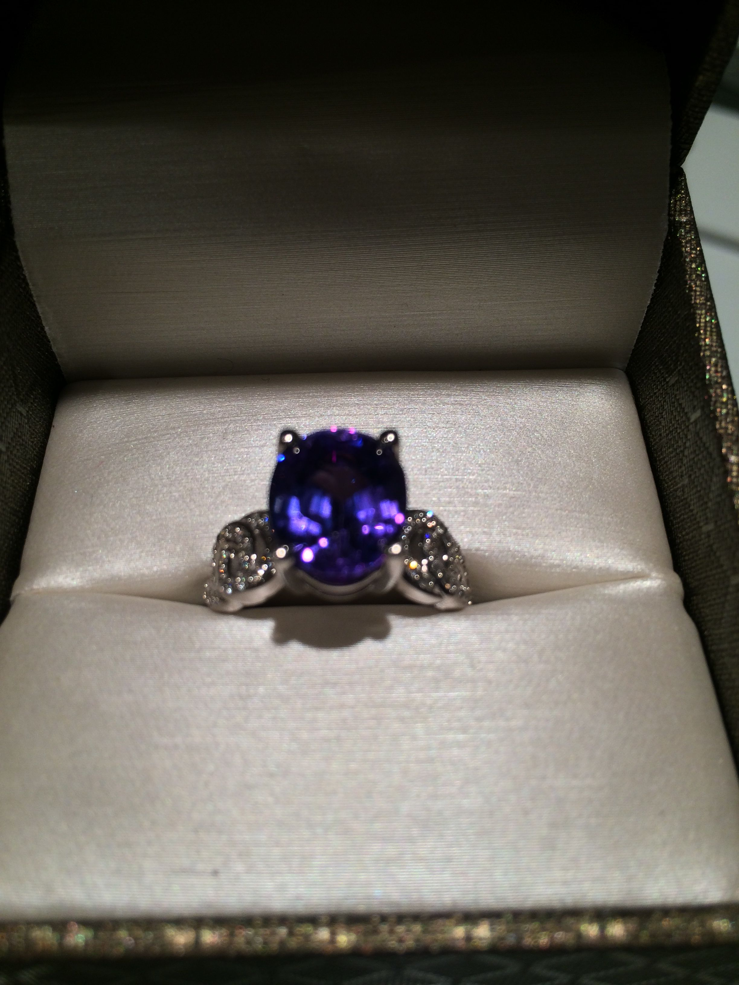 diamond white grade double investment engagement certified gia ring gold halo tanzanite