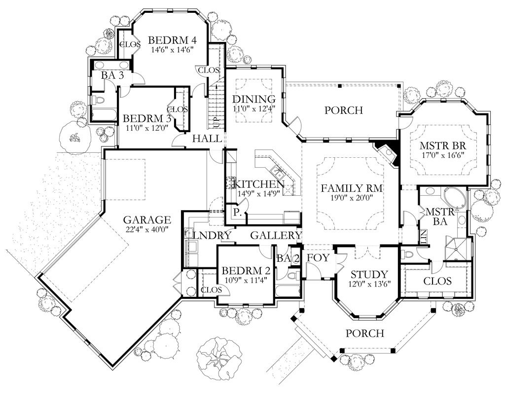 European Style House Plan 4 Beds 4 Baths 3040 Sq Ft Plan 80 200 With Images House Plans