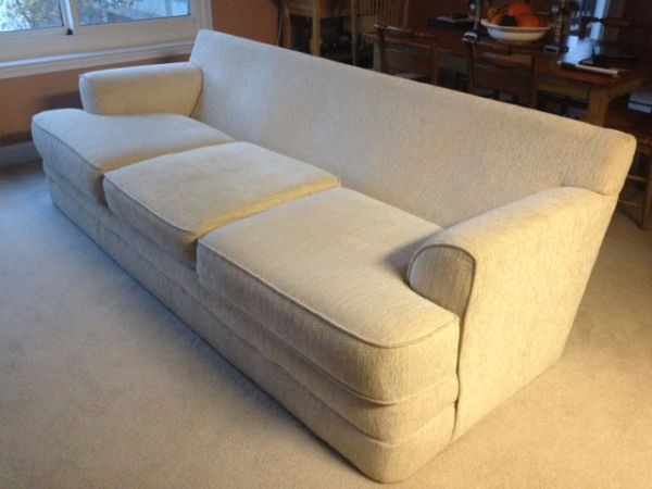 Ivory Haitian Cotton 3 Cushion Couch Great Condition Price Reduced 200 North Bergen