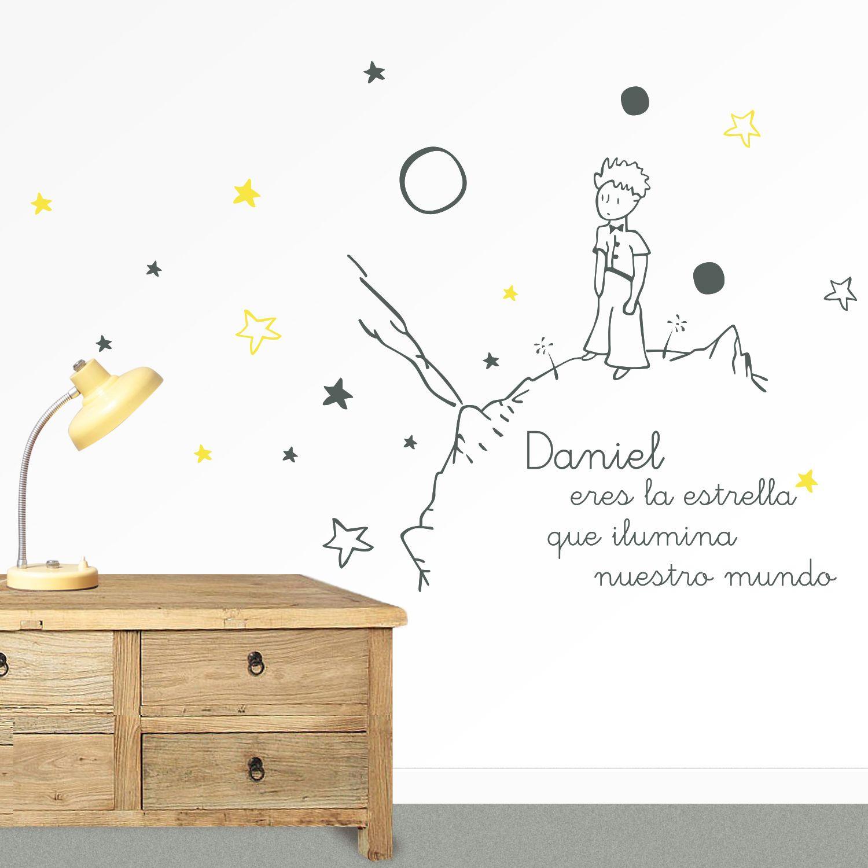 Vinilo infantil el principito y su planeta nombre https - Decoracion habitacion nino ...