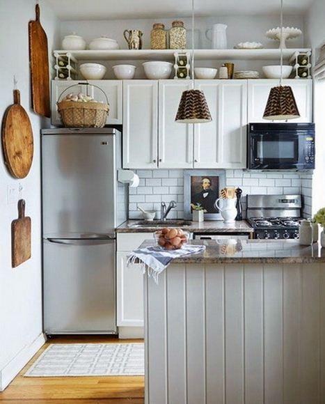Cocina Pequeña Aprovechar Espacio Buscar Con Google Decorar Cocinas Pequeñas Organizar Cocinas Pequeñas Decoracion De Cocinas Pequenas