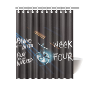 Panic At The Disco Bathroom Waterproof Shower Curtain Is