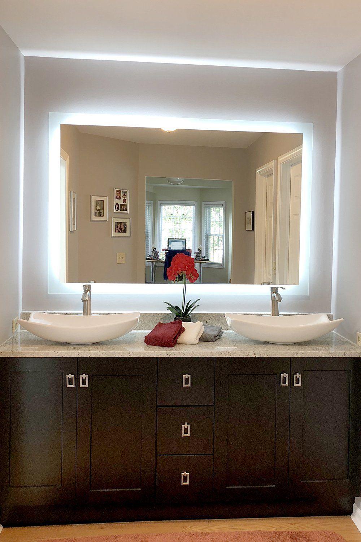 Side Lighted Led Bathroom Vanity Mirror 60 In 2020 Bathroom Vanity Mirror Bathroom Vanity Bathroom Decor