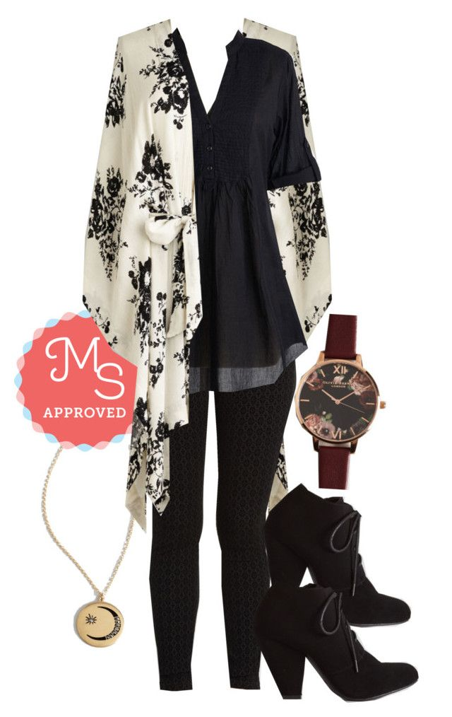 """Seville I See You Again? Jacket"" by modcloth ❤ liked on Polyvore featuring moda e Olivia Burton"