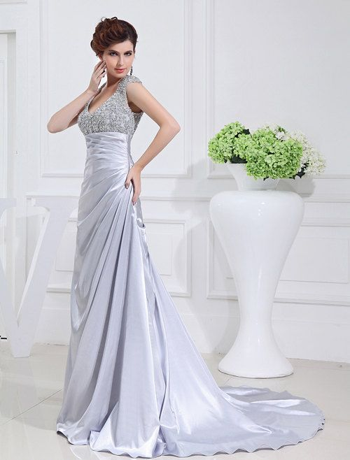 official photos big discount cute cheap silver vitage wedding dress simple wedding by ...