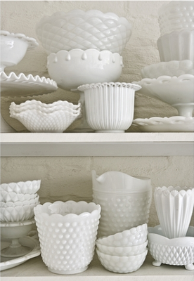 Something about milk glass...