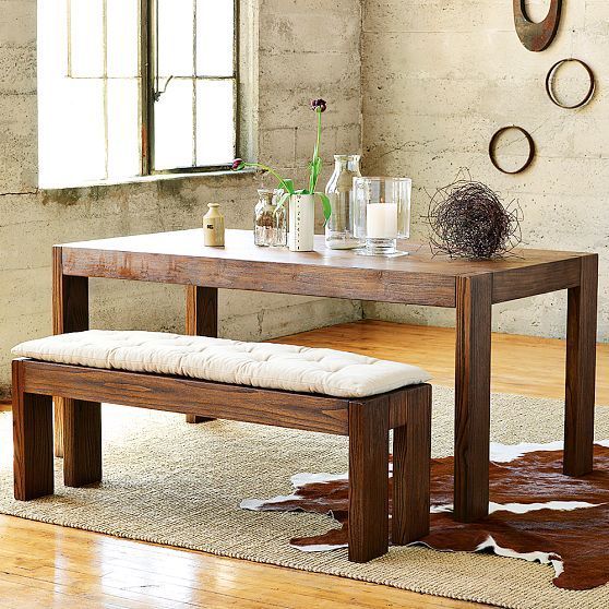 Need This Idea For Farm House Table Make Bench One Side Use 4