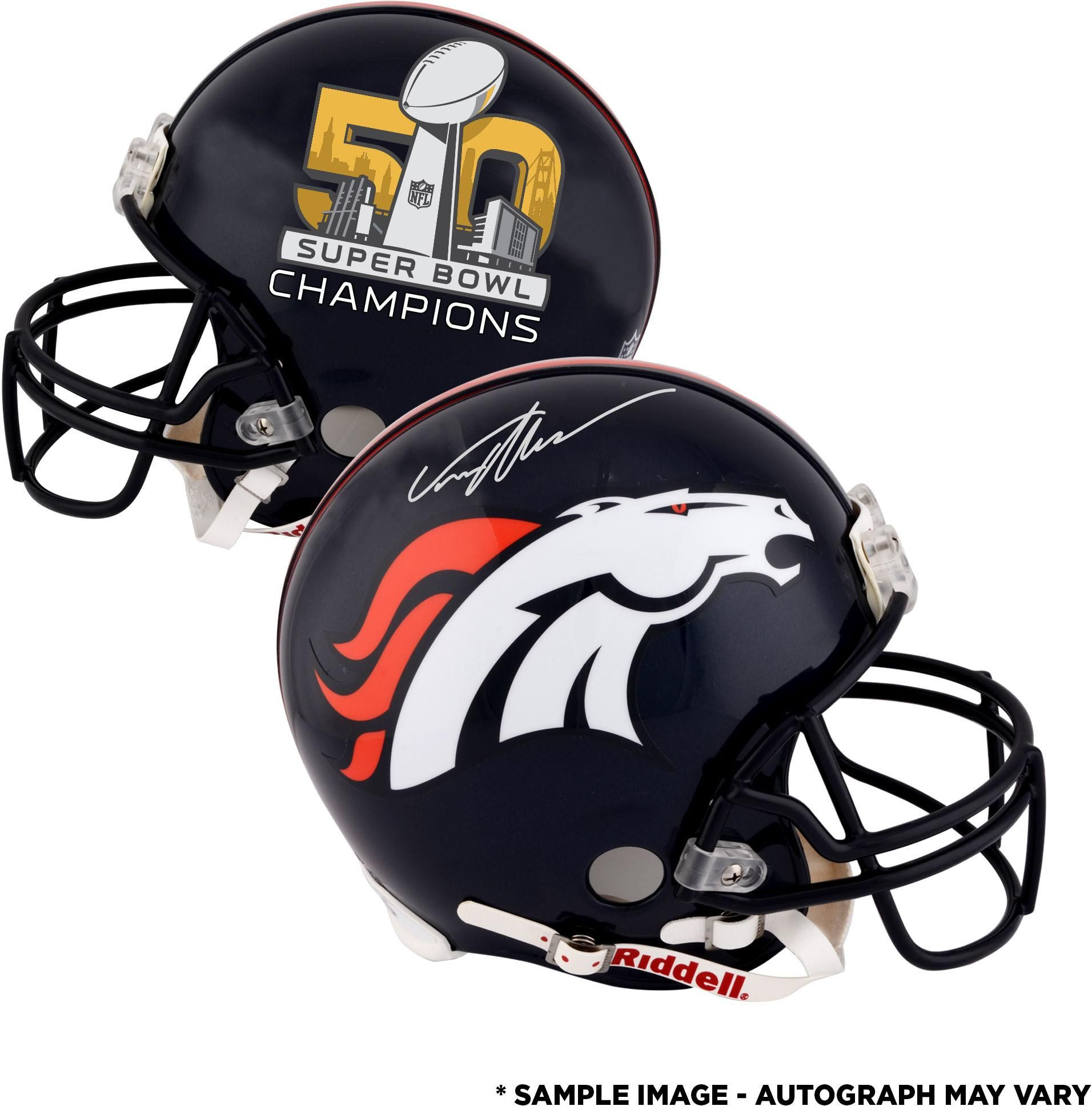 Von Miller Denver Broncos Autographed Riddell Super Bowl 50 Champions Pro-Line  Helmet 548aa47fc