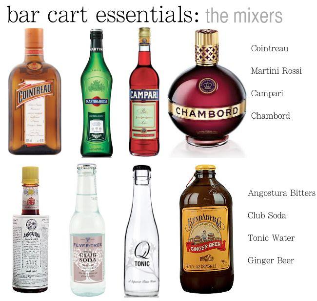 How To Stock A Bar Cart Bar Cart Essentials Bar Drinks Home Bar Essentials