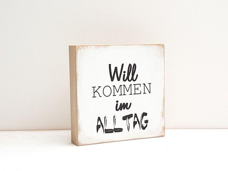 """Holzdruck - Holzbild """"Willkommen im Alltag"""" - ein Designerstück von ideenbaum bei DaWanda"""