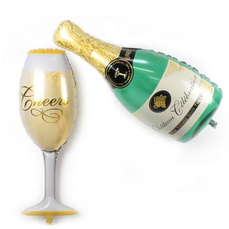 Decor Hen Party Supplies Aluminum Cup Beer Bottle Shape Champagne Foil Balloon