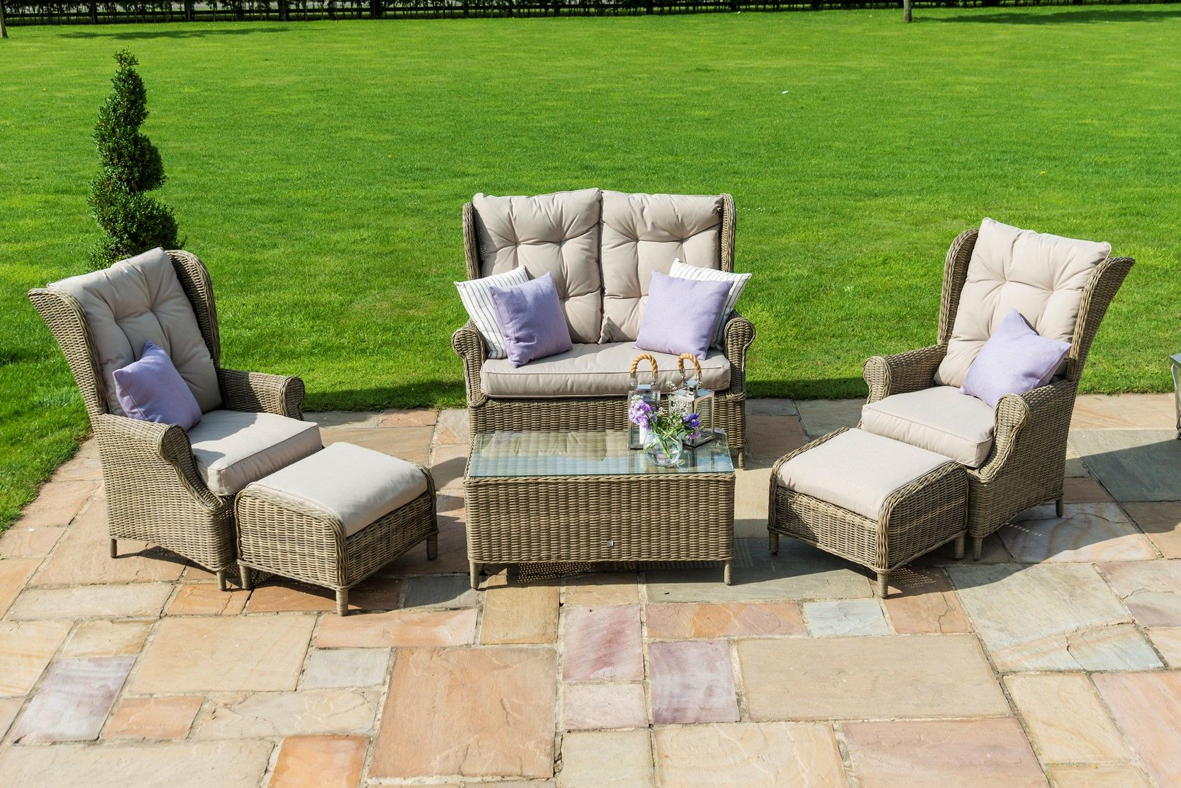 The maze rattan winchester high back sofa set is the ideal piece of
