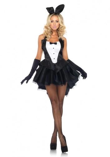 Burlesque Kostüm Bunny Outfit Can Can Damenkostüm Playboy Bunnykostüm Showgirl