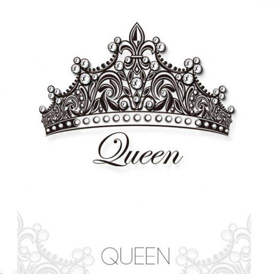 Rectangle Non-Slip Rubber Mousepad Hand Drawn Crown with Queen Lettering Baroque Style Elements Calligraphy Black and White Ambesonne Queen Mouse Pad Standard Size