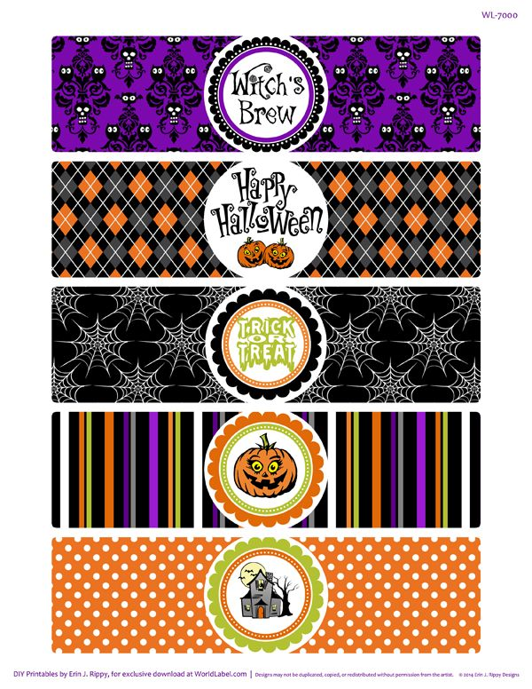 Bump In The Night Halloween Label Printables By Erin Rippy Of