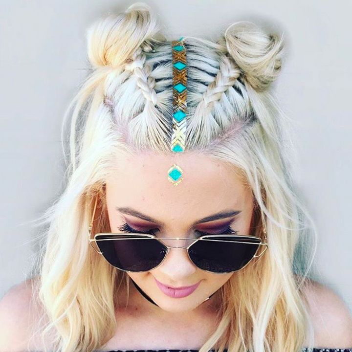 The 22 Trillest Tresses We Spotted At Coachella Coachella Hair Rave Hair Hair Styles