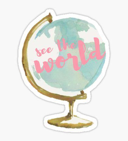 Explore Sticker By Annmariestowe Wishlist Pinterest Globe