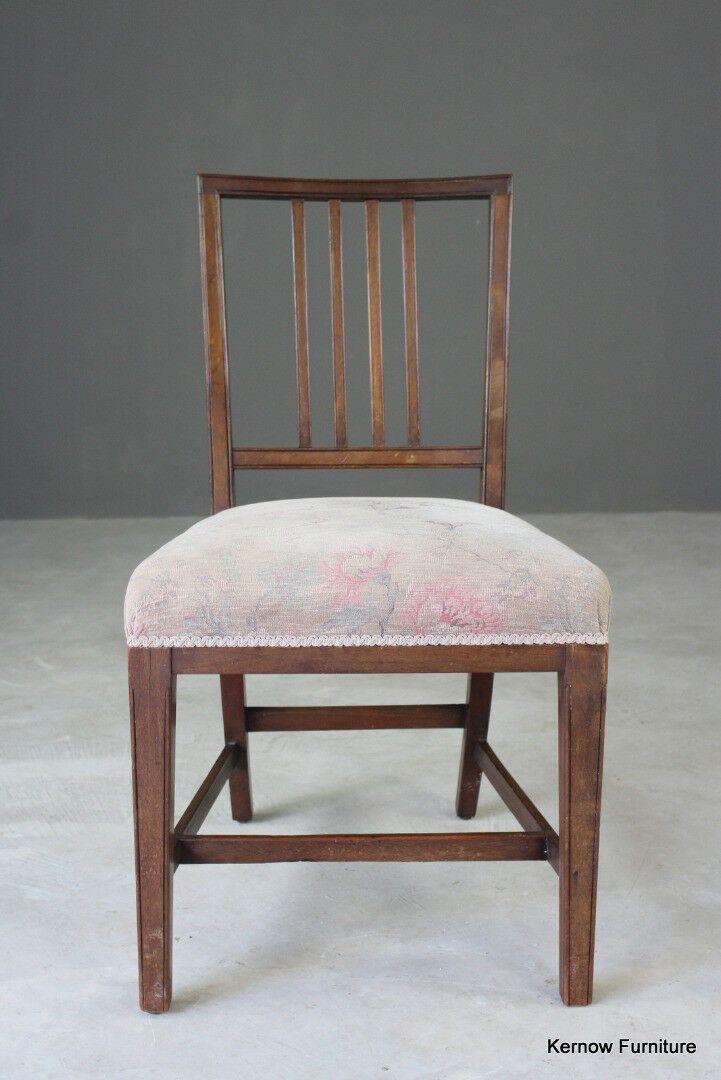 Antique single mahogany sheraton style dining chair