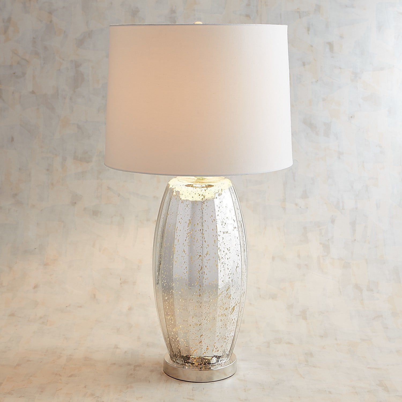 Silver Mercury Glass Table Lamp
