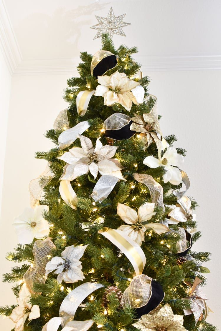 How to Put Ribbon on a Christmas Tree Monica Wants It