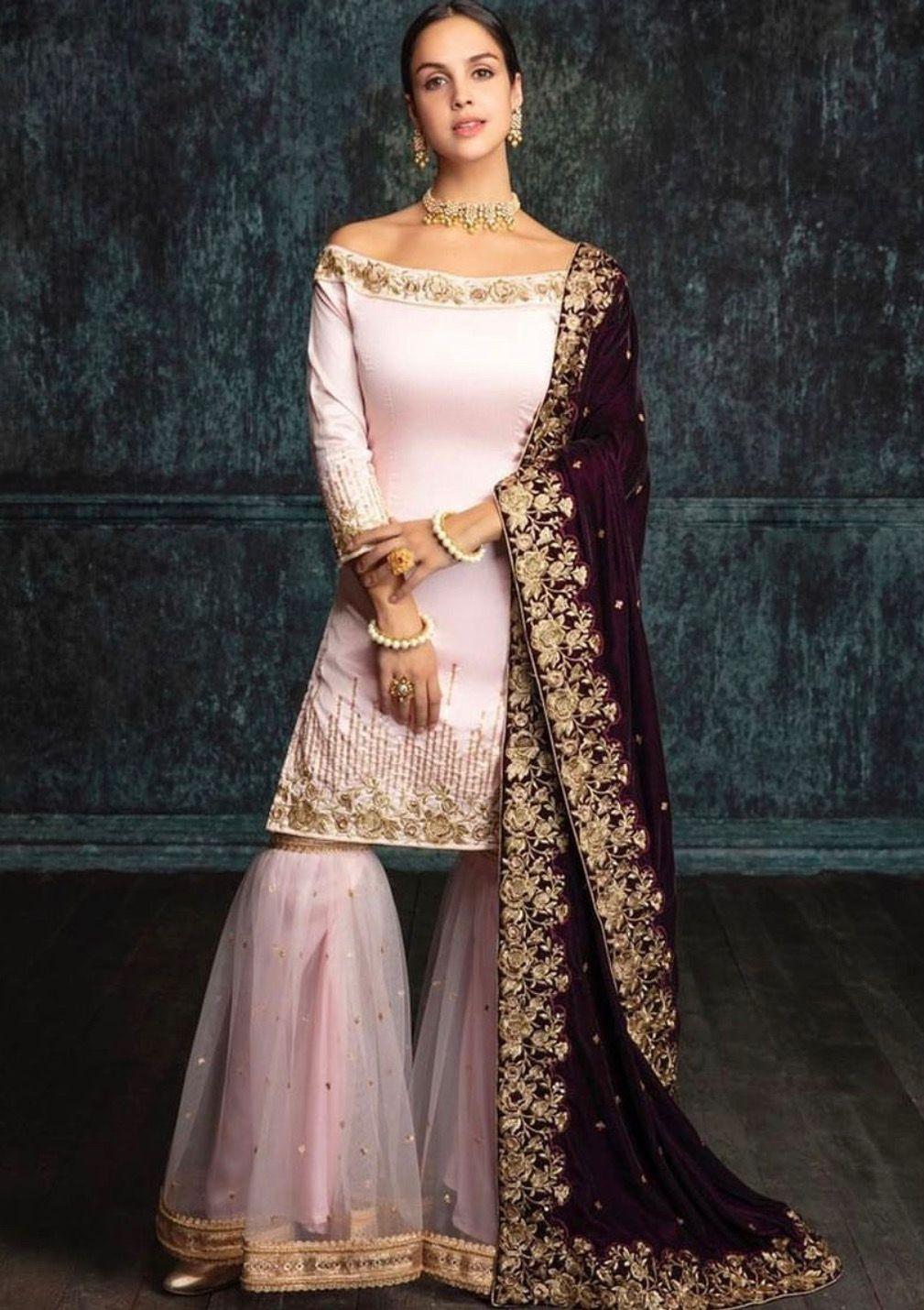 71373d6a4b Pinterest: @pawank90 | Sharara and Palazzo in 2019 | Fashion, Velvet ...