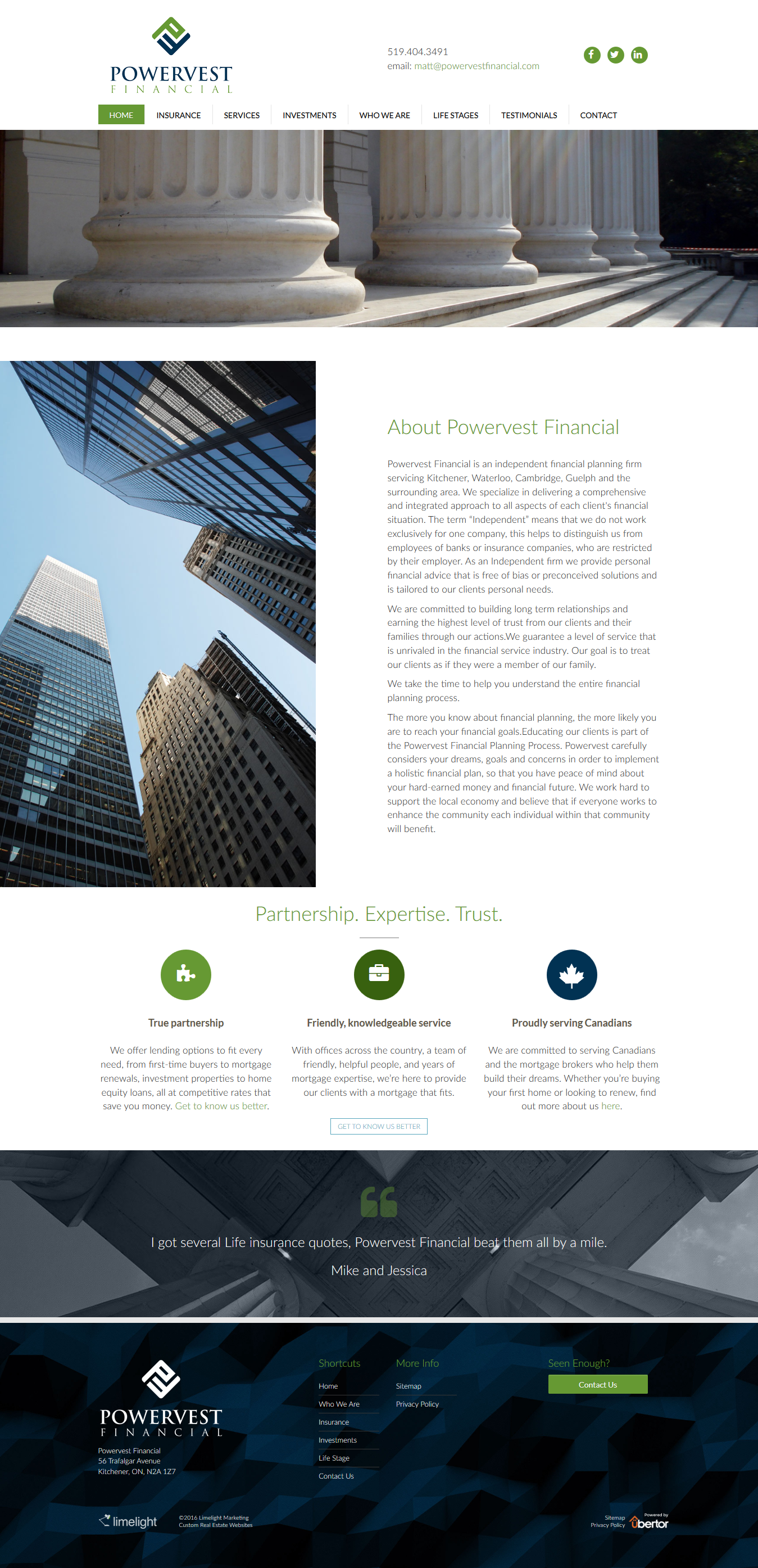 Website design for Powervest Financial is an independent financial ...