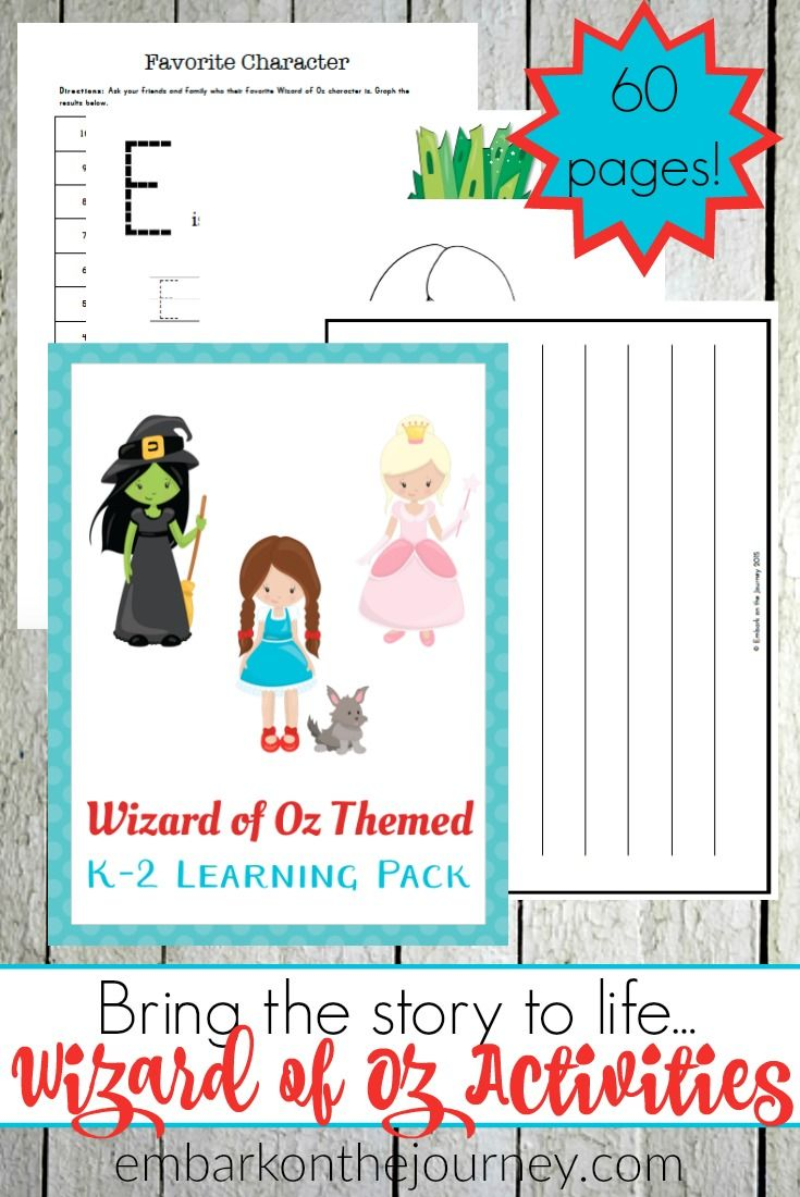 The Wizard Of Oz Activities And Printables For Kids Printable Activities For Kids Book Activities Activities