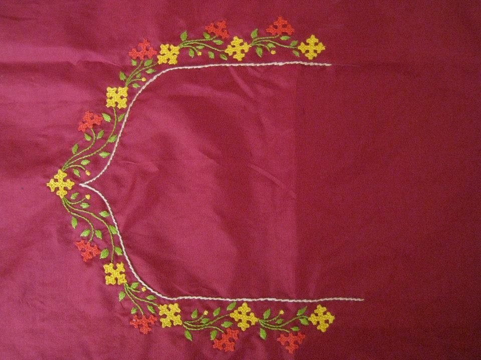 Kutch Work Neckline My Embroidery Creations Pinterest