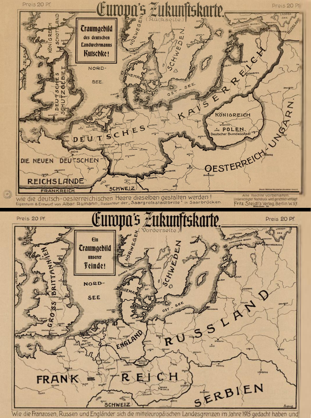 Maps Saarbrücken Europe After The Central Powers Entente Wins 1915 Map Europe